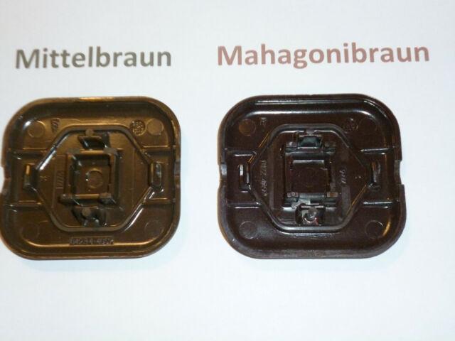 3-fach Bronce Rahmen waagerecht Busch /& Jäger LX mittelbraun 3 Steckdosen