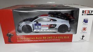 Reely-Audi-R8-1-16-RC-Einsteiger-Modellauto-Elektro-Strassenmodell-Heckantrieb