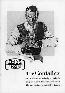Zeiss Ikon CONTAFLEX Catalog Reprint
