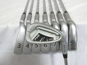 Used Ping i20 Black Dot Iron Set 3-W CFS Stiff Flex Steel Shafts