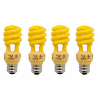 4 Pack Bright Effects Cfl Yellow Bug Light 60w Equivalent 13w Actual on sale