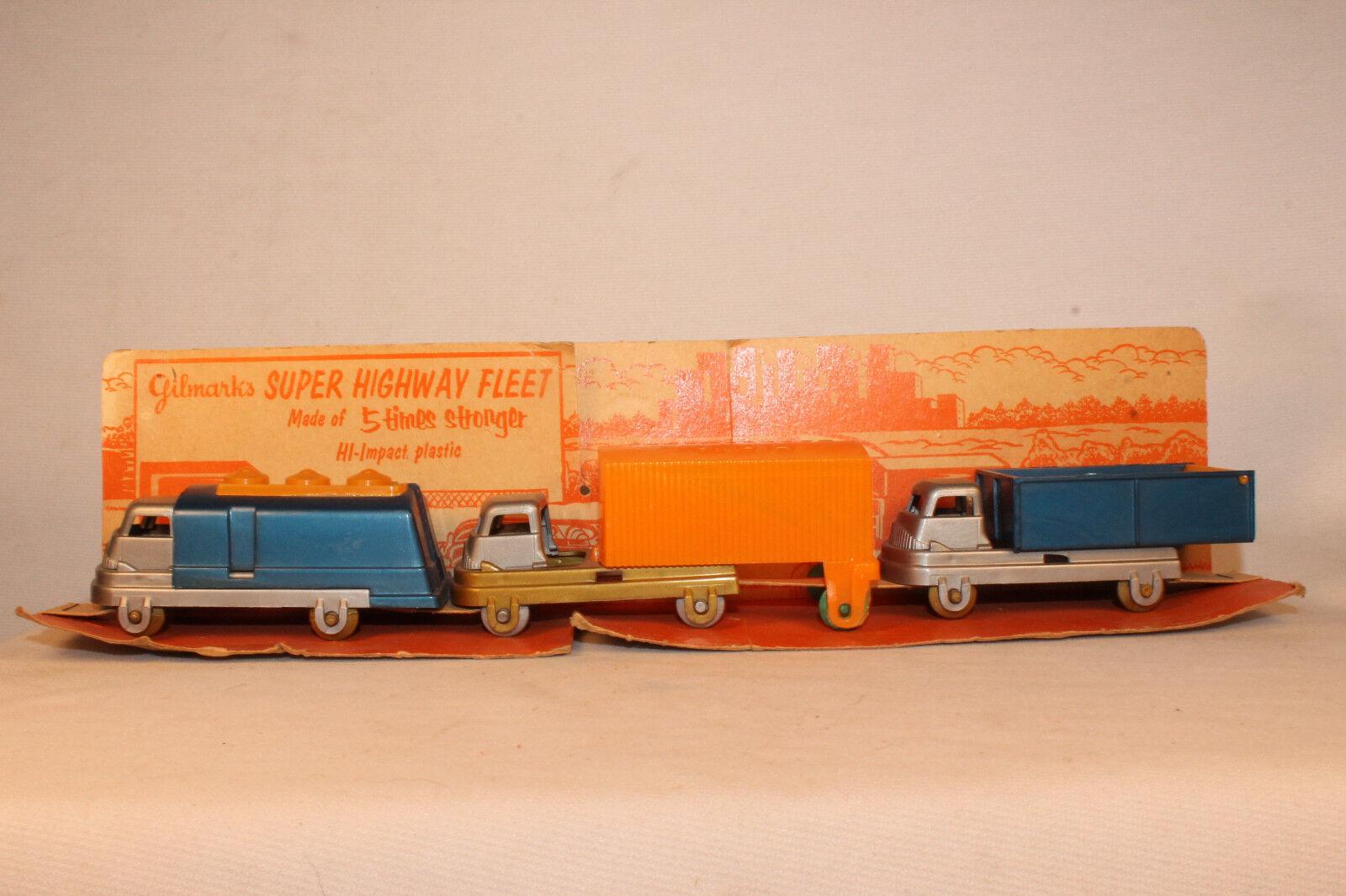 Gilmark Super Highway Camion Flotte Ensemble avec Original Boîte Insert