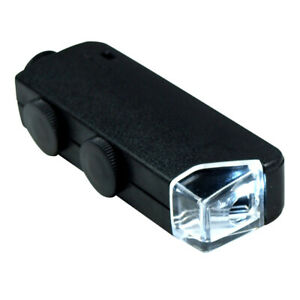 60X - 100X Zoom LED Lighted Mini  Microscope / Jewelers Loupe Magnifying Glass