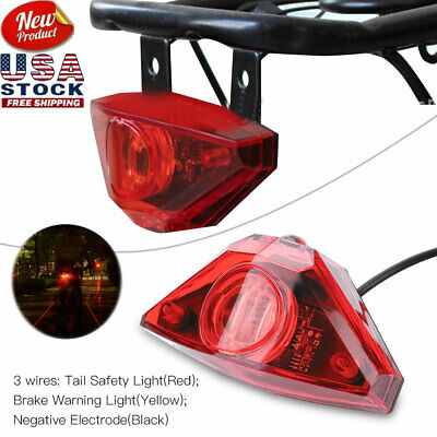 Electric Bicycle E Bike Rear Tail Safety Red Light Warning Brake Lamp Taillight