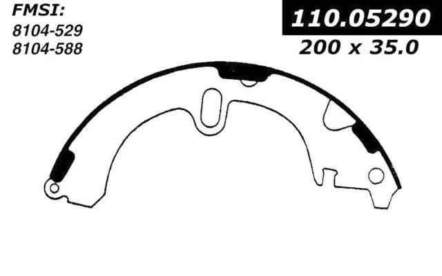 Drum Brake Shoe-Premium Brake Shoes-Preferred Rear Centric 111.05290
