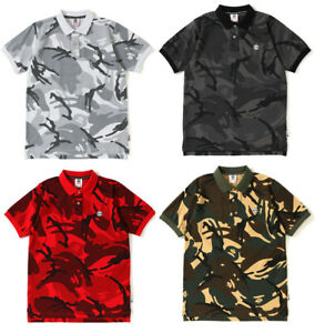 A-BATHING-APE-Men-039-s-AAPE-POLO-Shirt-TEE-One-Point-Camo-4colors-From-Japan-New