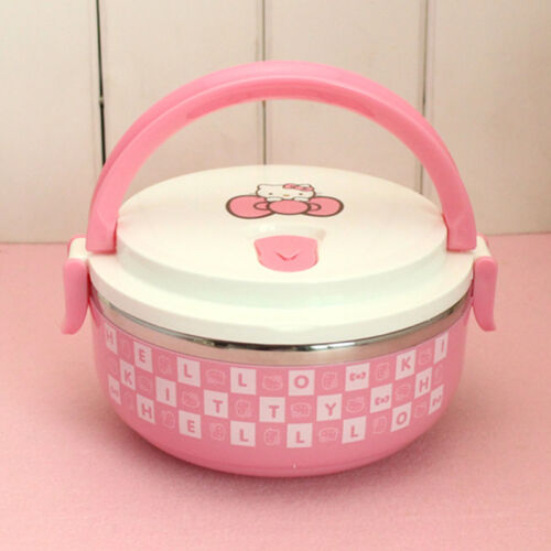 Hello Kitty Thermo Lunch Boxs Portable Food Container Kids étudiants Voyage Travail