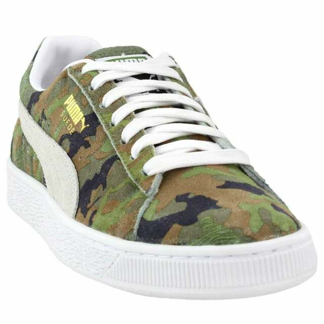 Puma Suede Classic Ambush Lace Up Sneakers  Casual   Sneakers Green Mens - Size