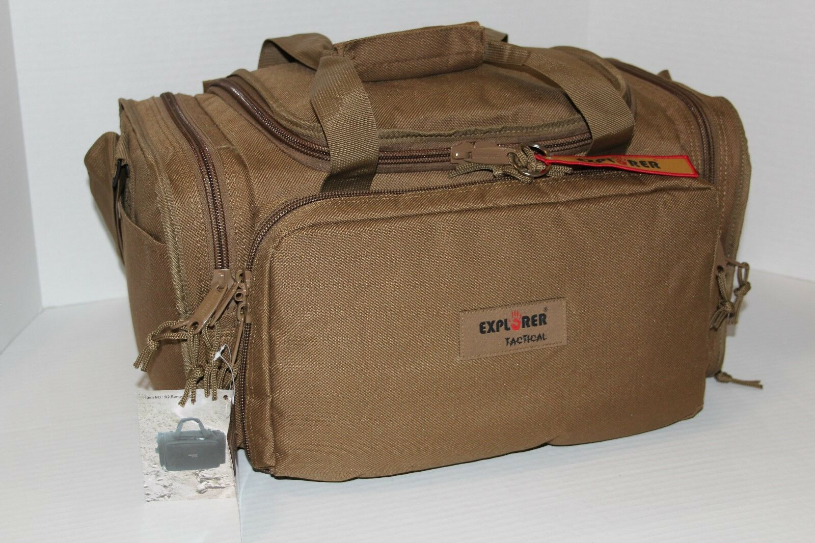 Deluxe Range Bag -Coyote Tan w  FREE Embroidered Monogram Tactical Ammo Bag