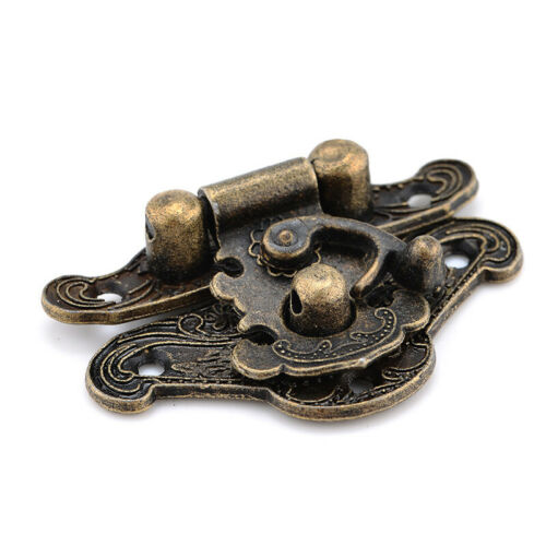 1PC Antique Wooden Jewelry Trinket Box Case Toggle Hasp Latch Hook Catch Buckle