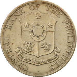 [#884174] Coin, Philippines, 10 Centavos, 1964, EF(40-45), Copper-Nickel-Zinc