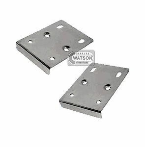 pair 2x hinge repair plate kitchen unit cupboard cabinet door mending ebay. Black Bedroom Furniture Sets. Home Design Ideas