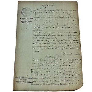 Authentic-1800-s-European-Paper-Multi-Page-Document-Handwritten-Manuscript-Old