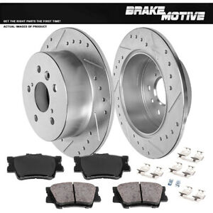 Rear Brake Disc Rotors & Ceramic Pads For 2012 2013 2014 -2016 2017 Toyota Camry