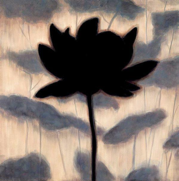 Erin Lange  Blossom Silhouette I Keilrahmen-Bild Leinwand Blüte floral modern