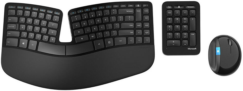 Microsoft - Sculpt Ergonomic Desktop Wireless USB Keyboard a