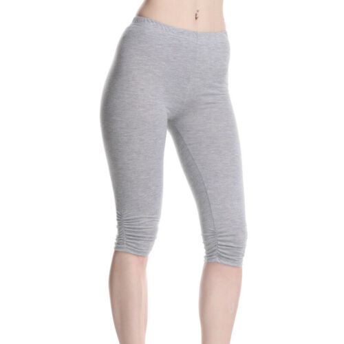 Women 3//4 Tight Trousers Pants Ladies Crop Shorts Leggings Ladies Trousers T3