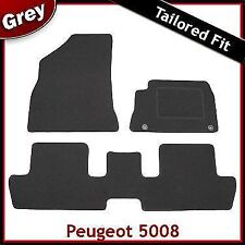 Peugeot 5008 2009 onwards Tailored Fitted Carpet Car Floor Mats GREY