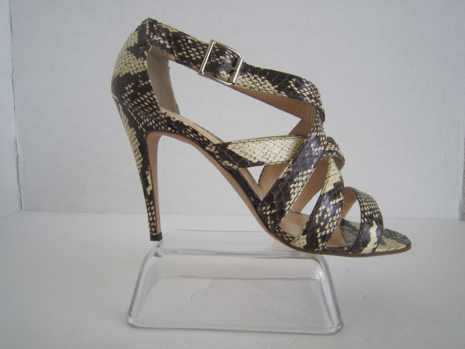 Manolo Blahnik Snake Print Strappy Heels Sandals Größe 40.5