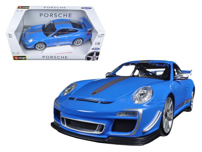 PORSCHE 911 GT3 RS 4.0 Diecast Model 1 18 bleu-Bburago - 11036BL