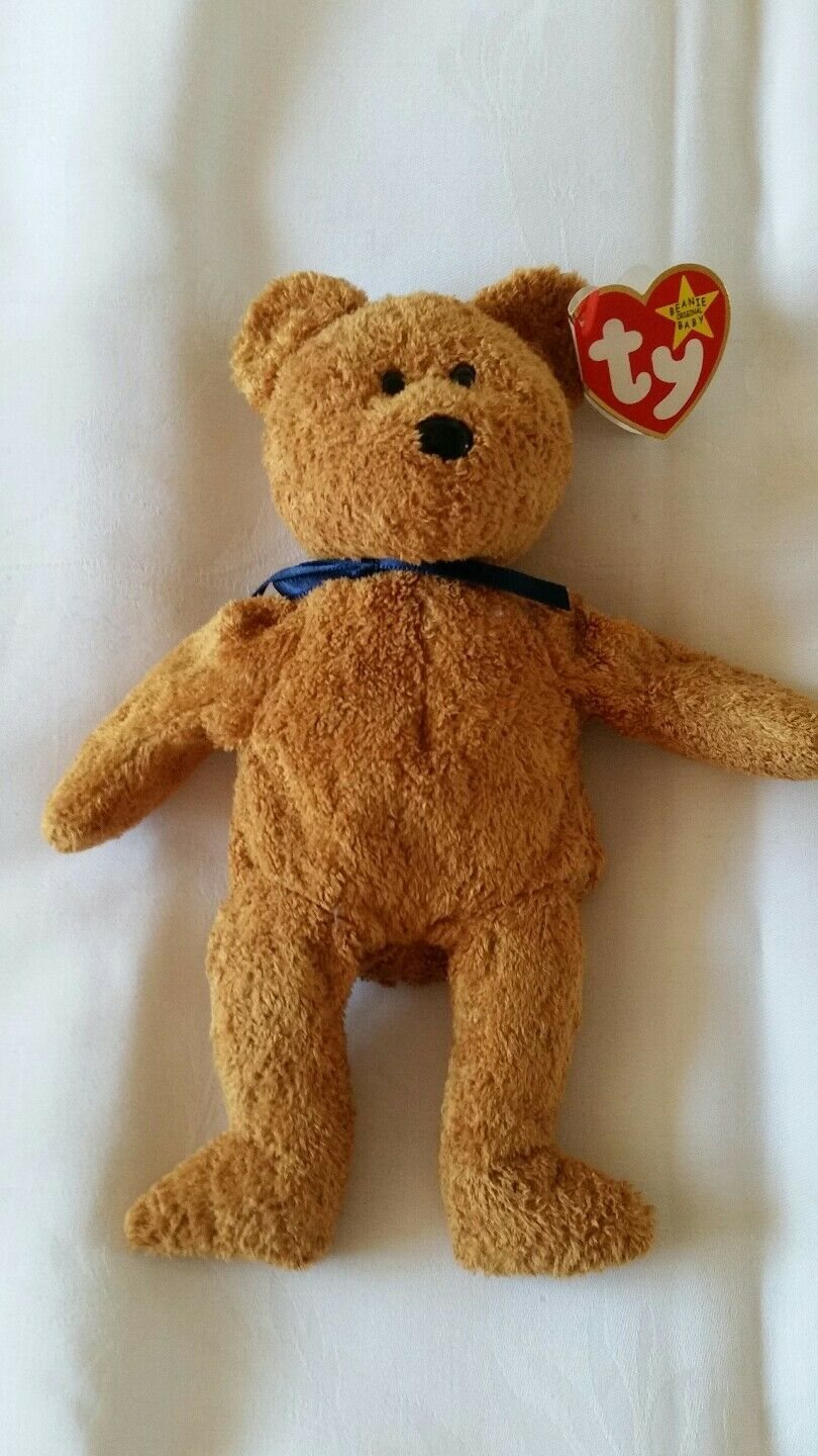 Ty Beanie Babies Rare Fuzz Bear With Errors