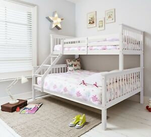 Triple Sleeper Bed Bunk Bed Double Bed In White Hanna Kids Ebay