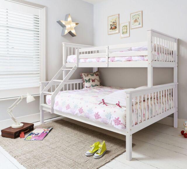Noa And Nani Triple Wooden Bunk Bed White Ebay