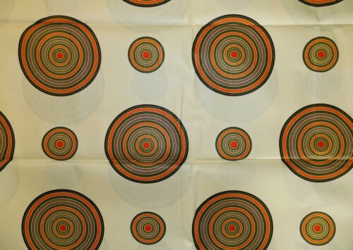 African Circles Print Fabric BY 1/2 YARD Ankara kitenge fancy wax p1418