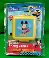 Disney Mickey Mouse ClubHouse 2 Card Games Mini Clip N' Go Travel Case New