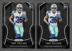 2019-Panini-Prizm-Tony-Pollard-Prizm-RC-300-LOT-OF-2-Cowboys-NM