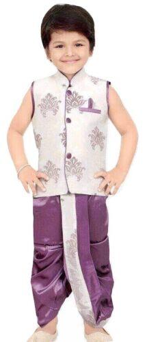 Garçons Coton Indien Bollywood Sherwani Enfants cutané de la ceinture Salwar Kameez Kurta
