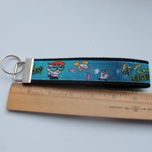 Dexter/'s Laboratory Key Fob Wristlet Grosgrain Ribbon Webbing Keychain