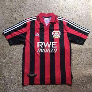 Details about Bayer 04 Leverkusen 2001-2002 shirt football home SOCCER Jersey Adidas Size M