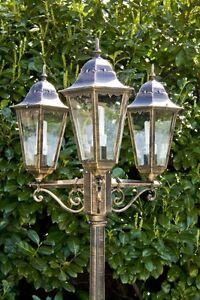Détails sur Lampadaire extérieur Lanterne de jardin Candélabre Design  Classique Verre 29728