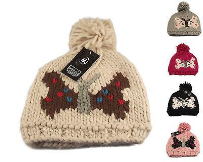 Luxury Ladies Butterfly Bobble Hat 91bda157bf7