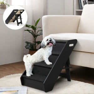 Surprising Details About Dog Pet Stairs 4 Steps Folding Climb Ladder Pet Puppy Stairs For Couch Or Bed Machost Co Dining Chair Design Ideas Machostcouk