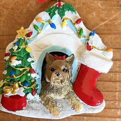 Yorkshire Terrier Christmas Ornament Dog House Kurt Adler ...