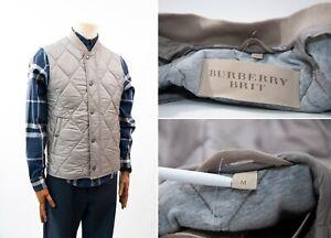 Homme-Burberry-Brit-Matelasse-Leger-Gilet-Gilet-Veste-Taille-M-couleur-grise