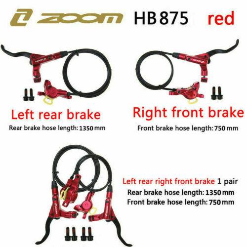 ZOOM Hydraulic Disc Brake MTB Bike Front//Rear Brakeset Caliper Rotor fit SHIMANO