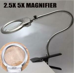 LED-Lighted-Magnifier-Desk-Lamp-Hose-Table-Loupe-15122-2B-Home-Glass-Large-Lens