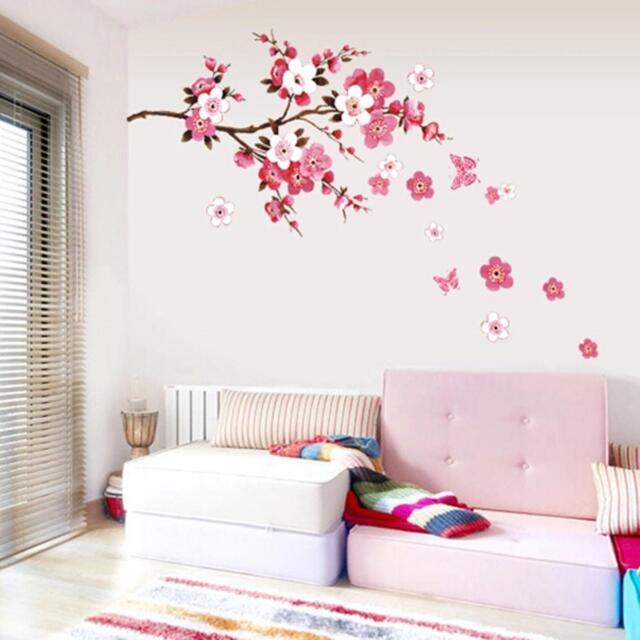 DIY Living Room Bedroom Wall Sticker Flower Blossom Wall Art Decal Decor Mural