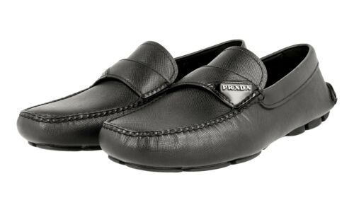 Slipper 40 Nuovo 2dd125 Prada Slipper 40 Luxury 5 6 Saffiano Black Nuovo Shoes dRqfB