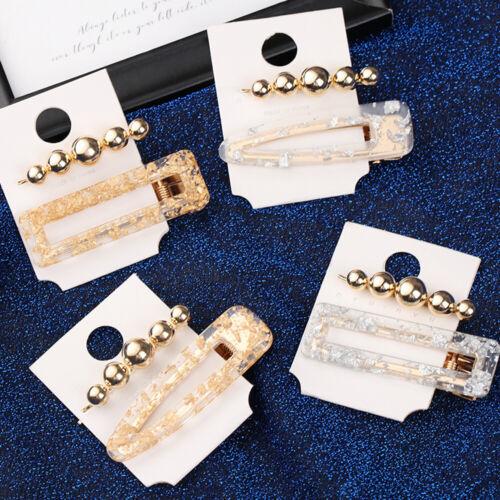 Fashion Women Pearl Imitation Beads Hair Clip Barrette Hairpin Hair Accessories~