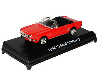 Ford Mustang 1964 1//2 Cabrio Rot 1//43 Motormax Modell Auto mit oder ohne indiv..