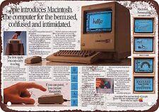 "7"" x 10"" Metal Sign - 1984 Apple Macintosh Intro Ad - Vintage Look Reproduction"
