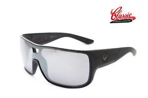 Dragon-Hex-29397-009-Shiny-Black-Frame-with-Silver-Mirror-Lens-Mens-Sunglasses