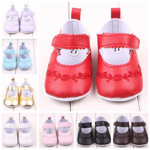 LP Kinder Baby Schuhe Krabbelschuhe Krabbelpuschen Lederpuschen Sticken M13692