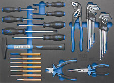 Module de servante d'atelier - marteau, pinces, tournevis, clés Torx 36 pièces