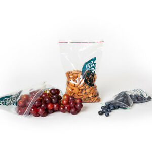 100 Zip Lock Bags Biodegradable FOOD GRADE Resealable Fridge Freezer Ziplock Bag