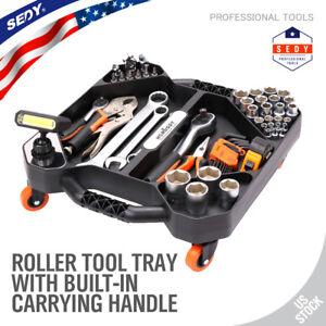 Mechanic-Roller-Outil-plateau-stockage-Organiser-Avec-DEL-Handy-pieces-Pan-Pivotant-Roue